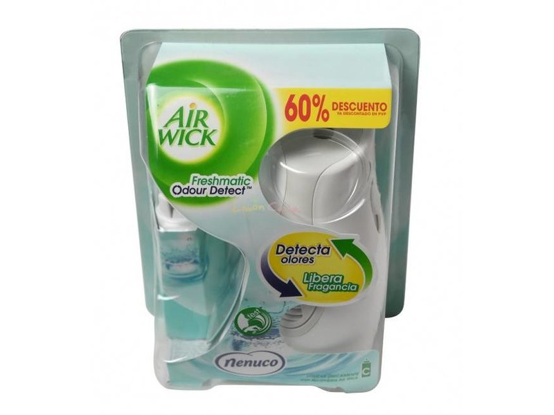 Airwick Nenuco Freshmatic Geur Sensor Starterkit (C) Slimme dispenser + vulling