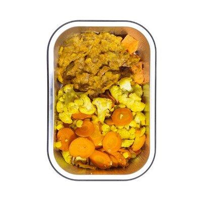 Lamscurry met bataat en groenten
