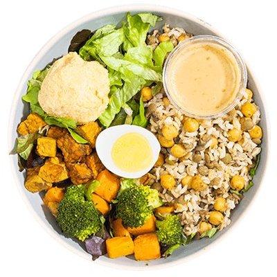Vega salade met tempeh