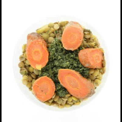 Vega Snacksalade linzen en wortel