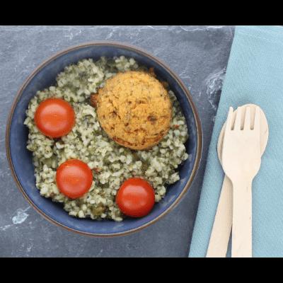 Vegan Snacksalade tabouleh en falafel