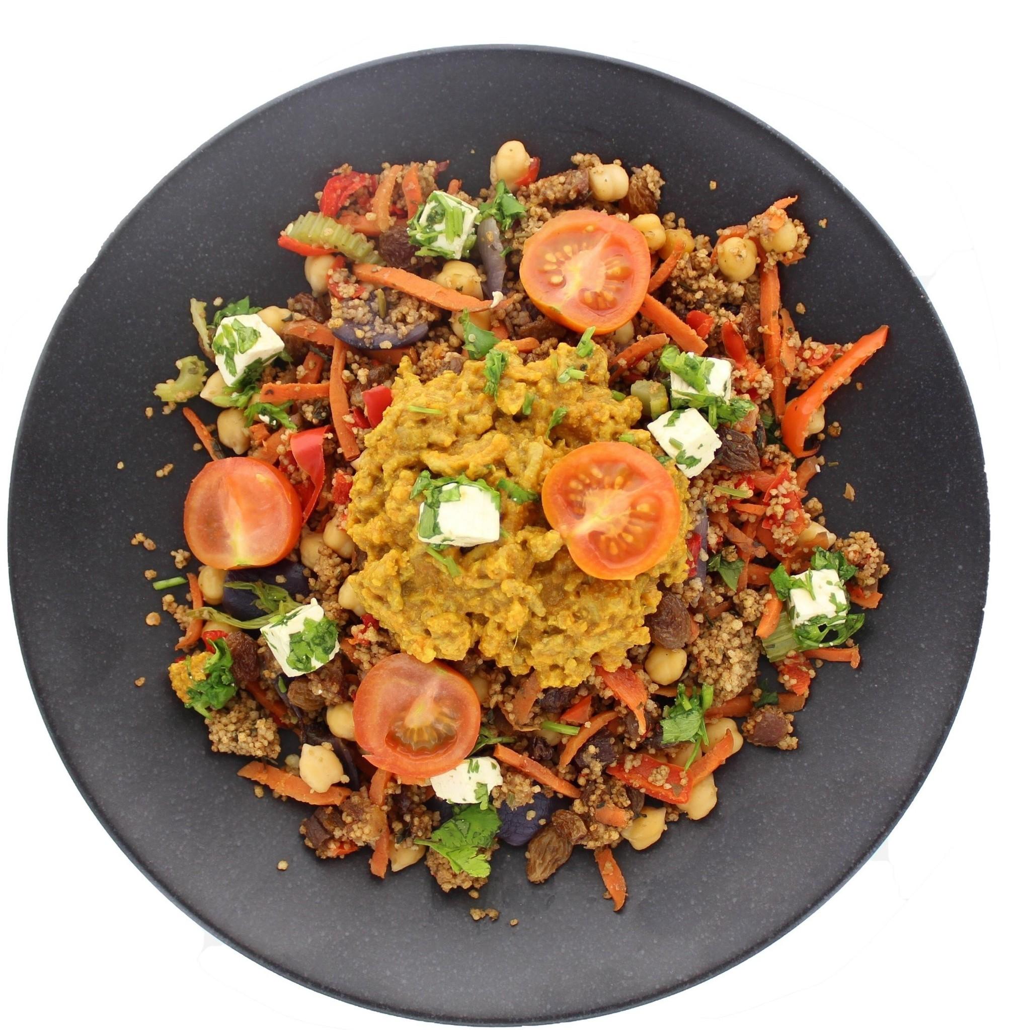 Marokkaanse tajine met couscous en rundergehakt