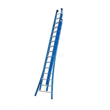 DAS products DAS products atlas blue 3-delig 3x14 schuifladder blauw