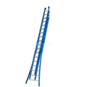 Atlas blue 3-delig 3x16 schuifladder blauw