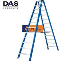 DAS products hercules dubbele trapladder 2 x 12 treden
