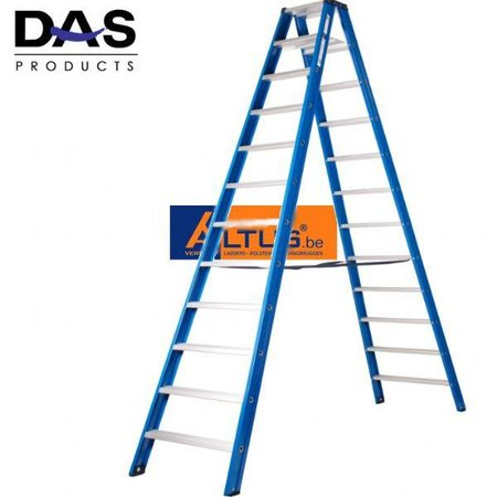 DAS products DAS products hercules dubbele trapladder 2 x 12 treden