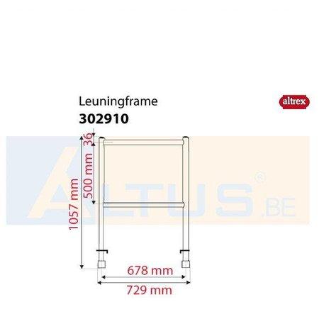 Altrex Altrex RS5 tower onderdelen leuningframe 75-50-2