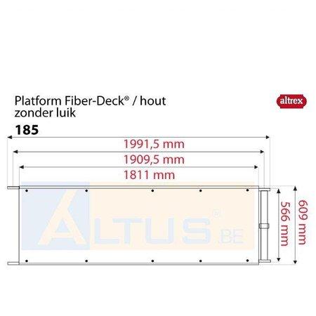 Altrex Altrex RS5 tower onderdelen 6) Fiberdeck platform zonder luik 1.85m