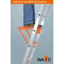 Telescoopladder ladderbank oranje