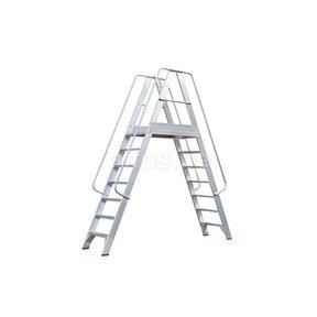 Solide platform dubbele toegang  2 x 7 treden 1.75m