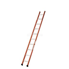 Enkele ladder 10 ALU treden enkel recht