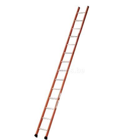 TUBESCA Tubesca enkele ladder 14 ALU treden enkel recht