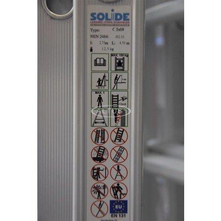 Solide Solide 2-delige professionele reformladder model C2x10