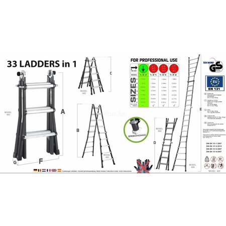 Big-1 Big-1 black edition ladder 4x3