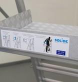 Solide Solide professioneel telescopisch werkplatform 360° leuning 4-6 treden
