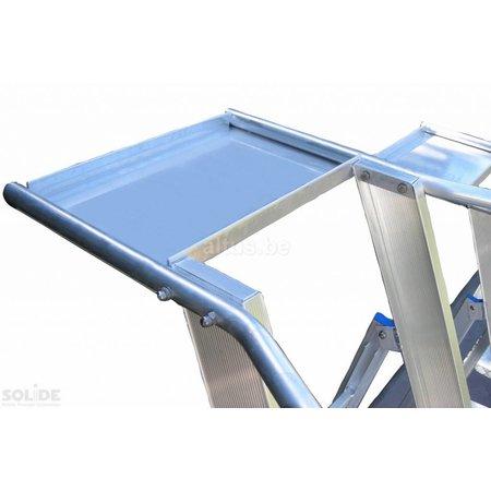 Solide Solide industriële plooibare mobiele magazijntrap 4 treden