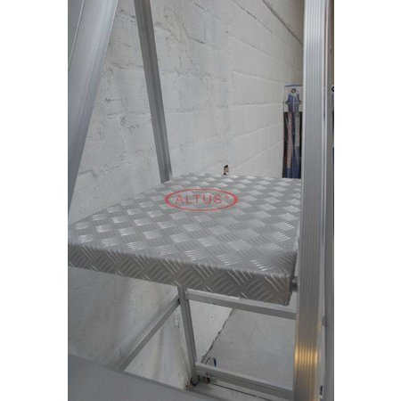 Solide Solide industriële plooibare mobiele magazijntrap 6 treden