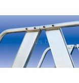 Solide Solide professioneel platform dubbele toegang  2 x 4 treden 1.00m