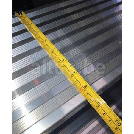 Altrex Bordestraponder hoek 45 graden met 4 wielen - tredebreedte 60 cm 5 treden + bordes