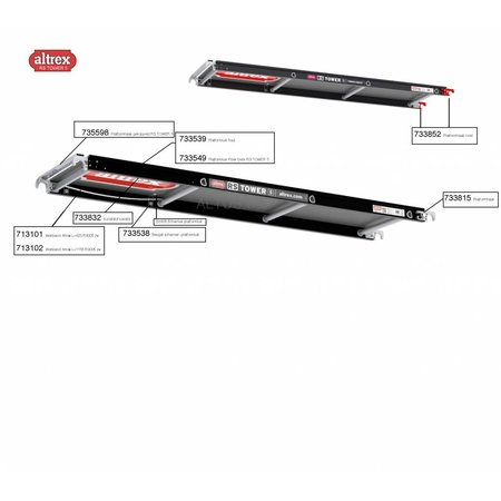 Altrex Altrex RS5 tower onderdelen platformen Kunststof luikslot
