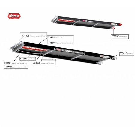Altrex Altrex RS5 tower onderdelen platformen Beugel scharnier- platformluik