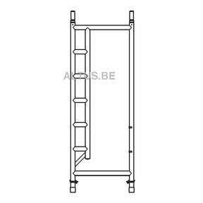 RS5 tower onderdelen Doorloopframe smal 75-28-7 RS5
