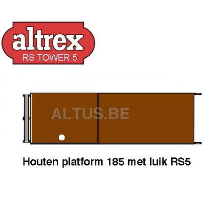 RS 5 TOWER ONDERDELEN Houten platform 185 met luik RS5