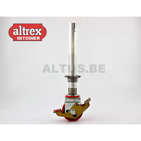 Altrex Wiel 125mm alu spindel verstelbaar MT/MT PLUS
