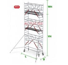 RS Tower 51-S met Safe-Quick 0.75(B) x 3.05(L) x 5.20m vh = 7.20m wh
