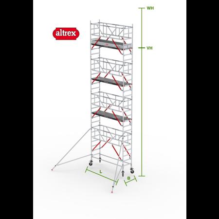 altrex RS Tower 51-S met Safe-Quick 0.75(B) x 3.05(L) x 7.20m vh = 9.20m wh