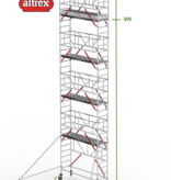 altrex RS Tower 51-S met Safe-Quick 0.75(B) x 2.45(L) x 8.20m vh = 10.20m wh