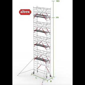 RS Tower 51-S met Safe-Quick 0.75(B) x 3.05(L) x 8.20m vh = 10.20m wh