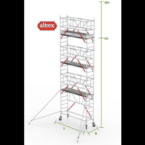 RS Tower 51-S met Safe-Quick 0.75(B) x 3.05(L) x 6.20m vh = 8.20m wh