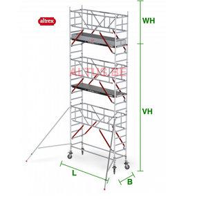 RS Tower 51-S met Safe-Quick 0.75(B) x 1,85(L) x 5.20m vh = 7.20m wh
