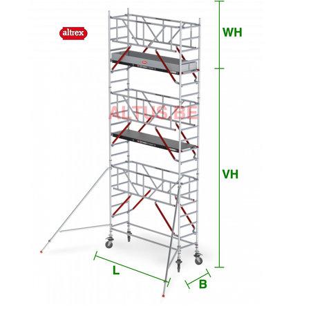 altrex RS Tower 51-S met Safe-Quick 0.75(B) x 1,85(L) x 5.20m vh = 7.20m wh