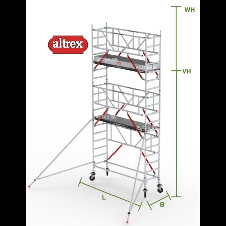 altrex RS Tower 51-S met Safe-Quick 0.75(B) x 1,85(L) x 4.20m vh = 6.20m wh