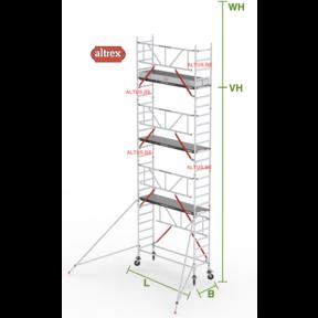 Gevelvrij RS Tower 51-S met Safe-Quick 0.75(B) x 2.45(L) x 6.20m vh = 8.20m wh