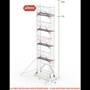 Gevelvrij RS Tower 51-S met Safe-Quick 0.75(B) x 2.45(L) x 8.20m vh = 10.20m wh