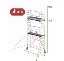 Gevelvrij RS Tower 51-S met Safe-Quick 0.75(B) x 2.45(L) x 4.20m vh = 6.20m wh
