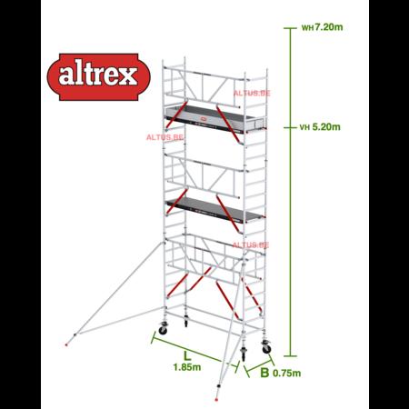 altrex Gevelvrij RS Tower 51-S met Safe-Quick 0.75(B) x 1.85(L) x 5.20m vh = 7.20m wh