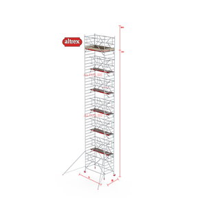 RS-42 Tower Safe-Quick 1,35 x 1,85 x 12,20mVH = 14,20m WH
