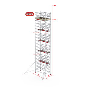 RS-42 Tower Safe-Quick 1,35 x 1,85 x 9,20mVH = 11,20m WH