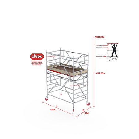 altrex RS TOWER 42-S met Safe-Quick® Guardrail 1,35 x 1,85m x 2,20m VH=4,20m WH