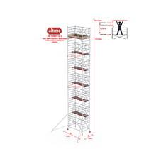 RS TOWER 42-S met Safe-Quick® Guardrail 1,35 x 2,45m x 12,20m VH= 14,20m WH