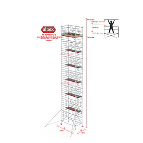 RS-42 Tower Safe-Quick 1,35 x 2,45 x 12,20mVH = 14,20m WH