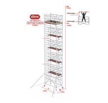 RS TOWER 42-S met Safe-Quick® Guardrail 1,35 x 2,45m x 10,20m VH= 12,20m WH