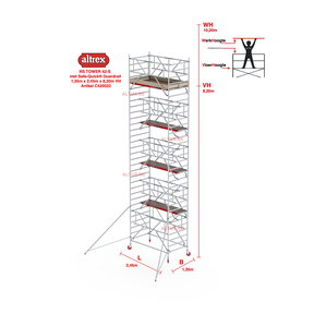 RS-42 Tower Safe-Quick 1,35 x 2,45 x 8,20mVH = 10,20M WH