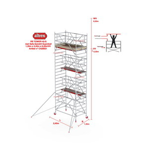 RS-42 Tower Safe-Quick 1,35 x 2,45 x 6,20mVH = 8,20m WH