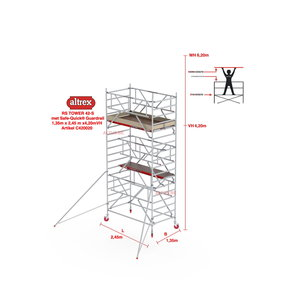 RS-42 Tower Safe-Quick 1,35 x 2,45 x 4,20mVH = 6,20mWH