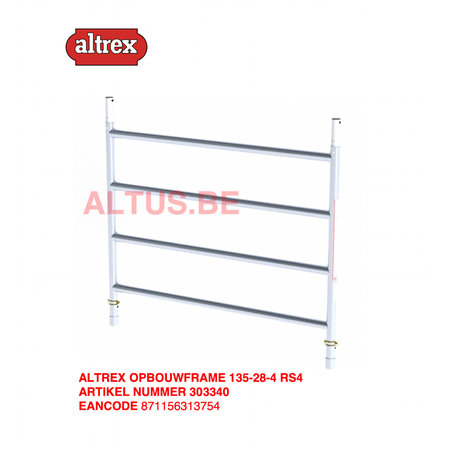 altrex RS TOWER 42-S met Safe-Quick® Guardrail 1,35 x 2,45m x 2,20m VH=4,20m WH